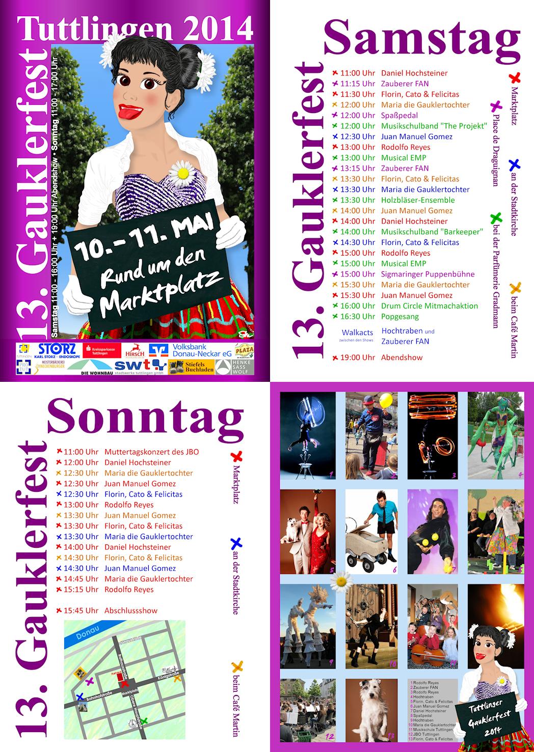 13. Gauklerfest - Programm 2014