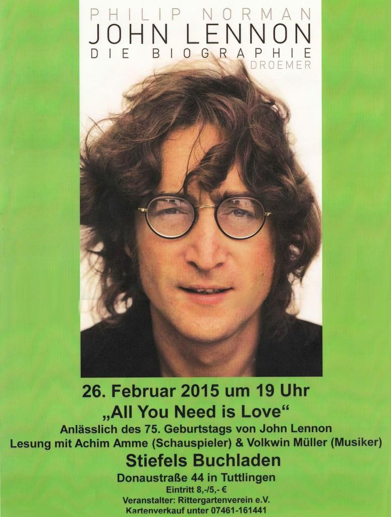 John Lennon - 75. Geburtstag