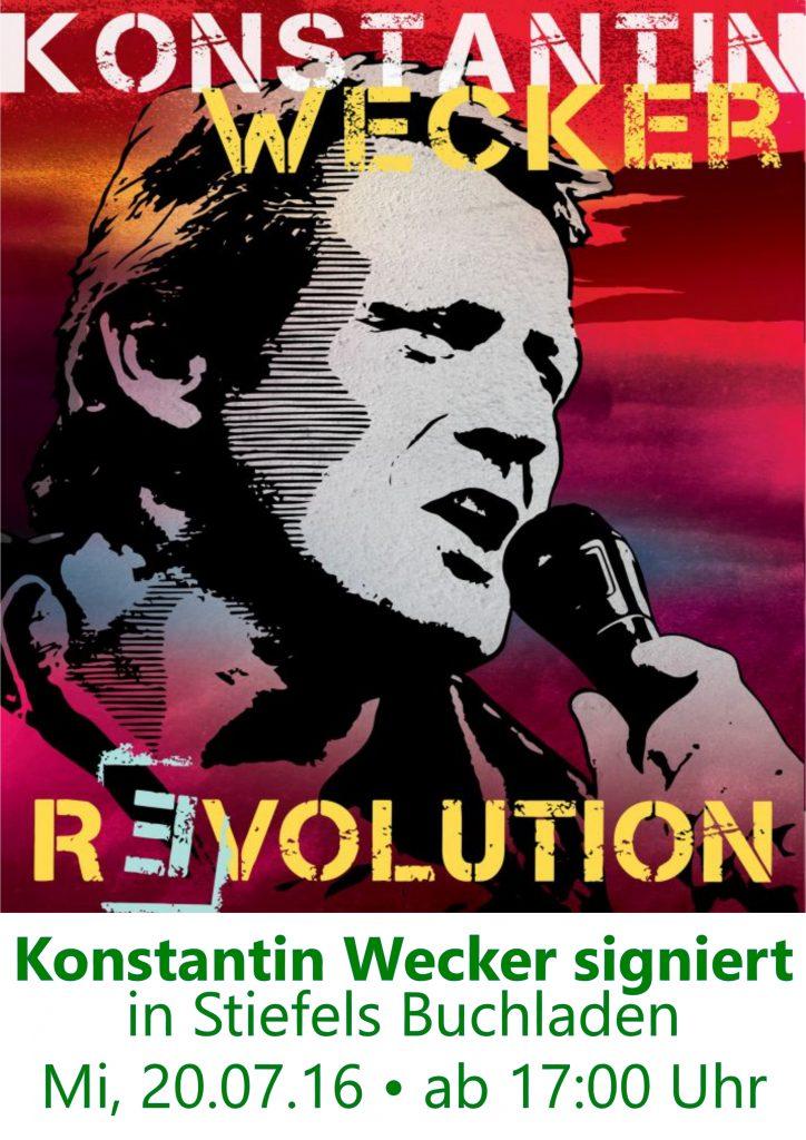 Konstantin Wecker signiert